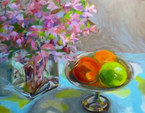 Still life with Crabapple Branches