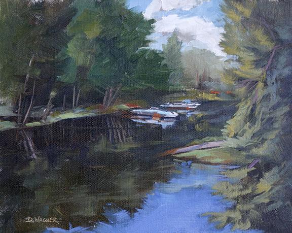 Lake Arbutus Hatfield Wi Dawn Wagner Painting And Drawing