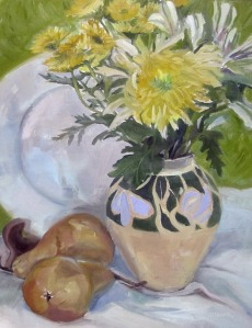 Still Life with Chrysanthemum and Pears