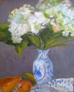 Still Life with White Hydrangea